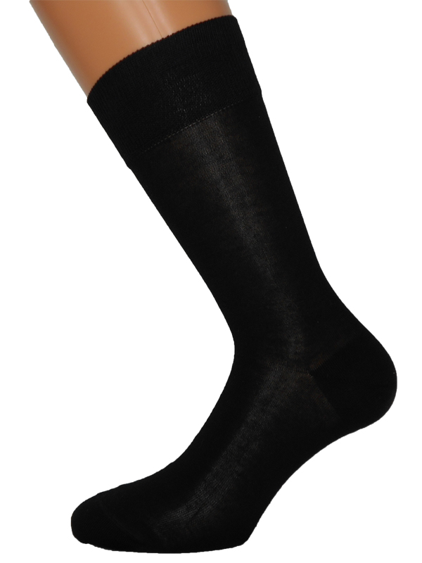 Luxury men's socks 100% cotton gazed merserized
