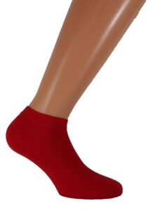 womens short socks red
