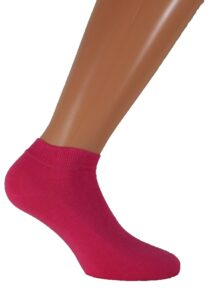 womens short socks fuchsia