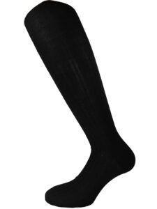 mens knee high socks wool-silk black